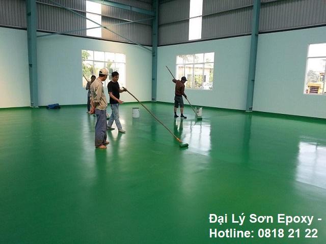 Thi công sơn epoxy giúp tăng tuổi thọ cho sàn nhà